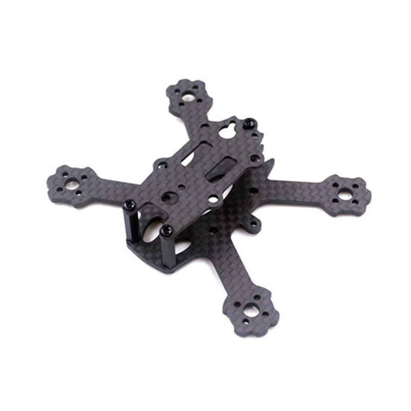 High Quality X2 ELF 88mm Micro Brushless 3K Carbon Fiber FPV Racing Frame Kit For RC Toys Multirotors Drone Parts tator rc 3k carbon fiber plate 3 5mm tl2900