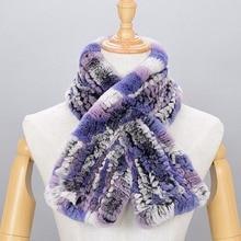 Rabbit hair scarf  female scarves Rex rabbit fur genuine fur collar ring Multi color 2017 Russian Winter Scarf ladies