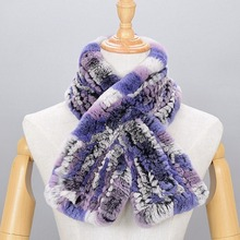 Rabbit hair scarf female scarves Rex rabbit fur genuine collar ring Multi color 2017 Russian Winter Scarf ladies