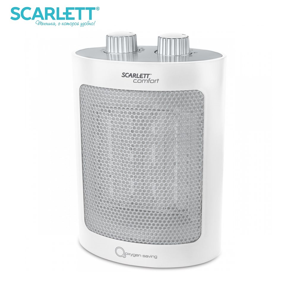 Fan Heater Scarlett SC-FH53K12 Heater fan heater for home electric heat gun mini Household appliances for home 16 a air conditioning water heater leakage protector plug socket switch electrical appliances prevent electric shock