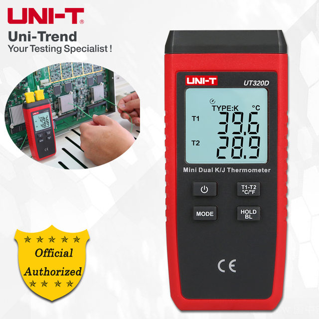 UNI T UT320A/UT320D Mini Contact Type Thermometer; Industrial Contact Thermometer/Thermocouple Thermometer