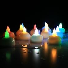 Светильник для свечей, плавающие свечи, лампа без пламени, мерцающий Креативный светодиодный светильник для чая, украшение дома, лучший подарок