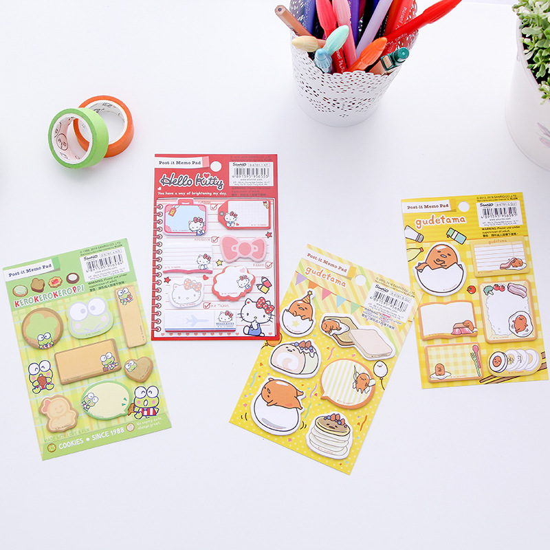 12 sets/1 lot Creative kitty Frog Memo Pad Sticky Notes Escolar Papelaria School Supply Bookmark Post it Label