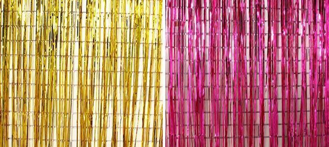 245x92 cm shimmering Oro Argento Metallizzato Tinsel Tenda Foglio di Stanza Lucido Pub Fase del partito decorazione di cerimonia nuziale sfondo Sfondo-in Decorazioni fai da te per party da Casa e giardino su  Gruppo 1