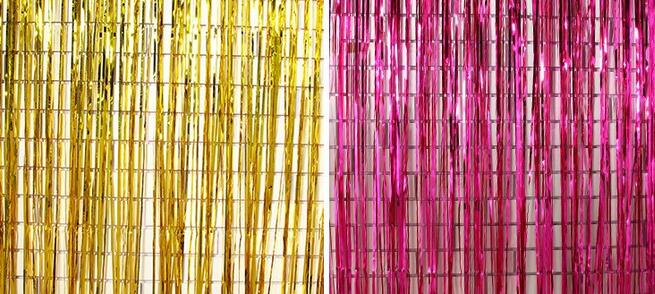 245x92cm shimmering Gold Silver Metallic Tinsel Curtain Foil Room Shiny Pub party Stage wedding decoration backdrop Background-in Party DIY Decorations from Home & Garden    1