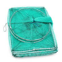 Bobing Nylon Fishing Net 3 2m Long Tube Multiple Sections Foldable Mesh Eel Shrimp Crab Lobster