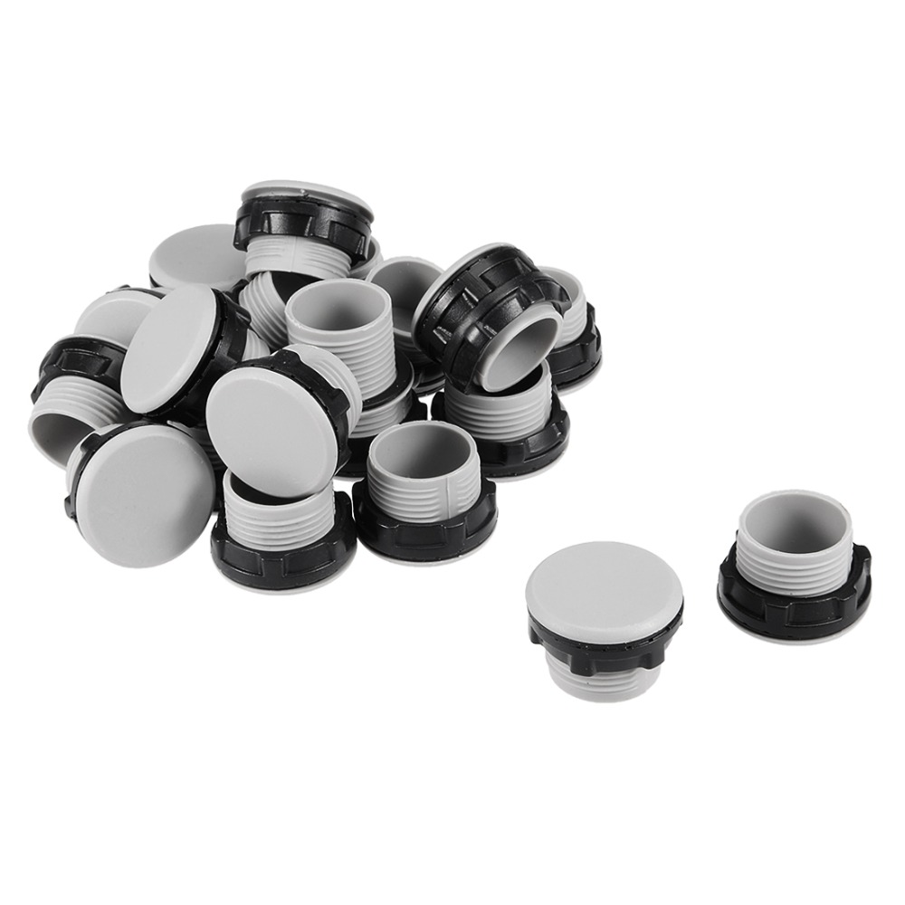 UXCELL 20 Pcs 22mm Black Gray Plastic Push Button Switch Hole Panel Plug For Reserved Accessories