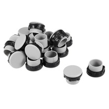 цена на UXCELL 20 Pcs 22mm Black Gray Plastic Push Button Switch Hole Panel Plug For 22mm Push Button Switch Reserved Hole Accessories