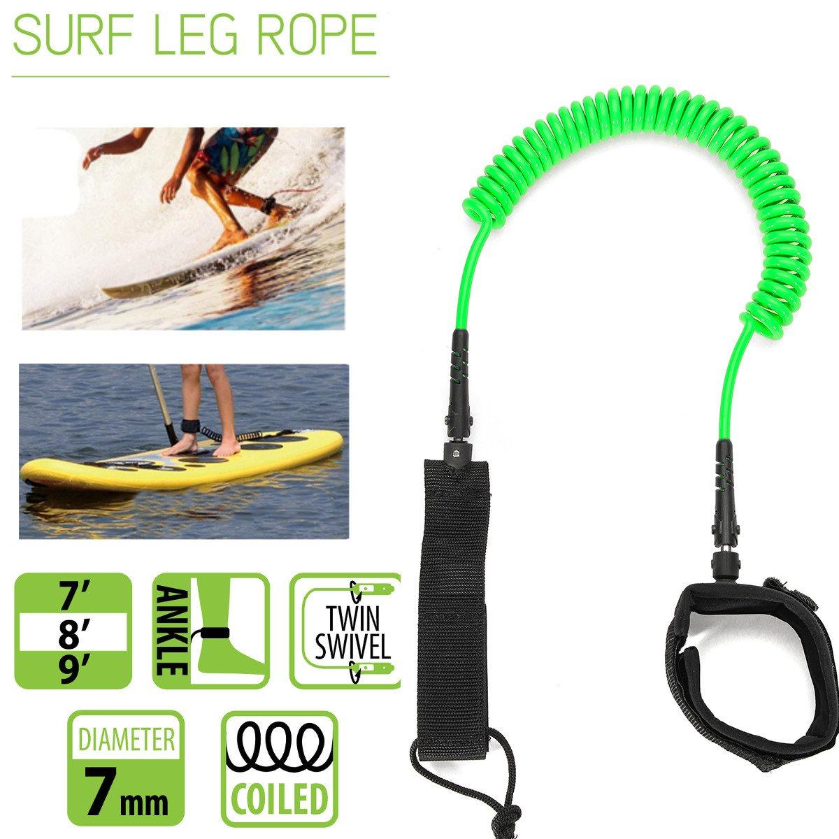 6bbbc3c24 10ft 7mm Tornozelo Enrolada Leash Prancha SUP Stand UP paddle board Paddle  Board TPU corda acessório de surf