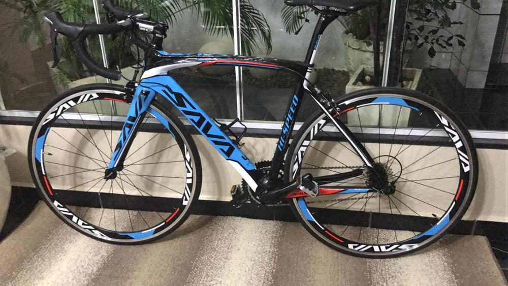 ... Kit 105 5800: The Model: Sava 700c Road Bicycle Frame T800 Carbon  Fiber, Wheelset/fork/handlebar/earphone/seatpost/rim With 105 5800 Shimano  22 Speed.