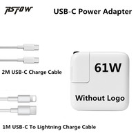 RsFow 61W 2M USB C Cable Power Adapter Charger For Macbook Pro 12 13 With 1M
