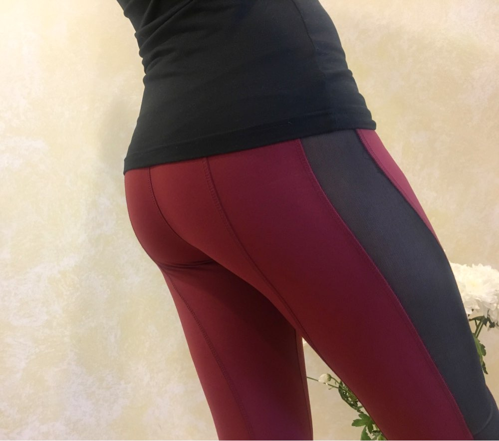 Solid High Waist Fitness Legging Women Heart Workout Leggins Femme Fashion Mesh And Pu Leather Patchwork Leggings photo review