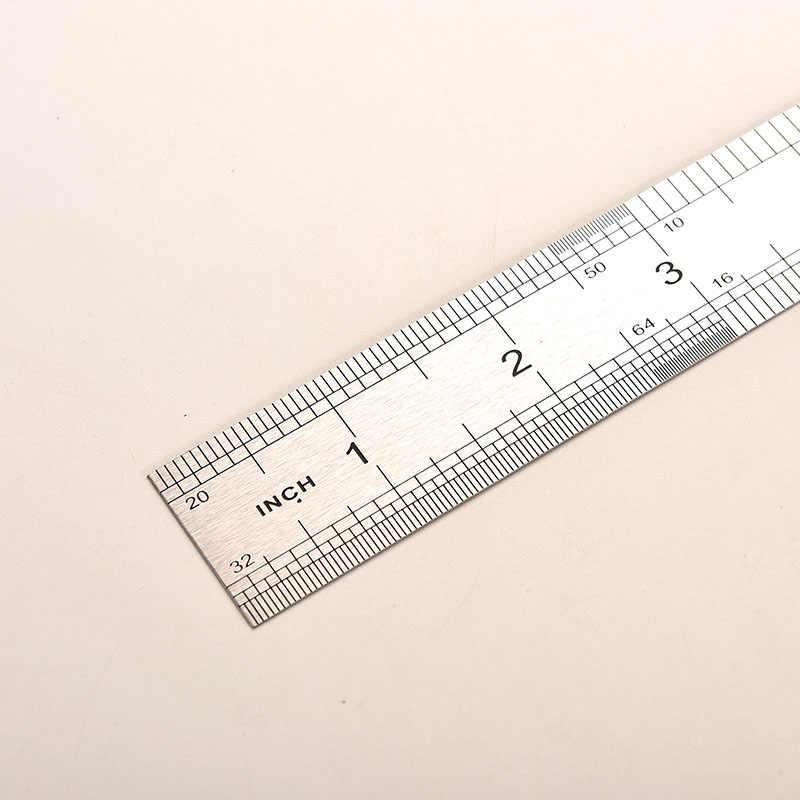 Peerless 30 ซม.สแตนเลสสตีลคู่ด้านตรงไม้บรรทัดวัดเครื่องมือ