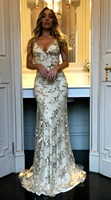 Summer Long Maxi Formal Sequined Party Dress Women Elegant Plus Size V neck Sequined Bridesmaid Prom Long Dresses 2018 YL 42