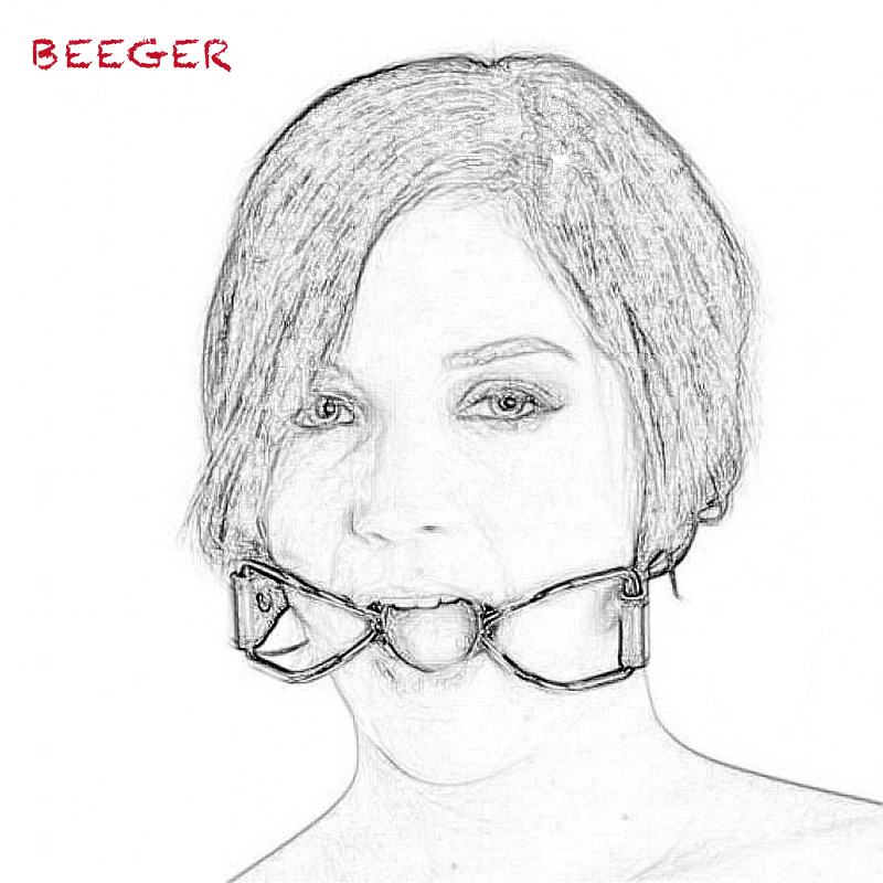 BEEGER Spider Mouth <font><b>Gags</b></font>.Stainless Steel Metal Open Mouth <font><b>Ring</b></font> <font><b>Sex</b></font> Slave Roleplay Toys <font><b>Sex</b></font> Products For Adult Games Pleasure image