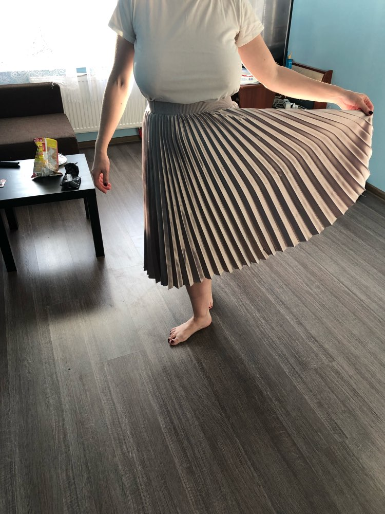 High Waist Women Long Skirt White Pleated Skirts Fashion Design Top Brand Women Skirts Female Long Skirts Faldas Saia Midi photo review