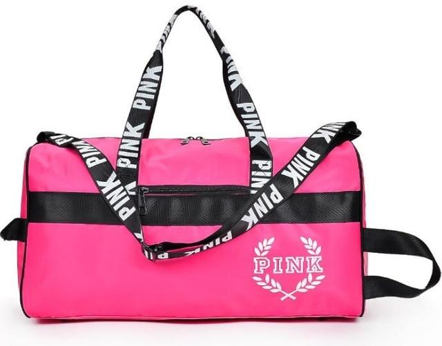 lady love pink girl travel duffel bag women Travel Business Handbags  Victoria beach shoulder large capacity Letter Messenger bag 1dcc1336d5