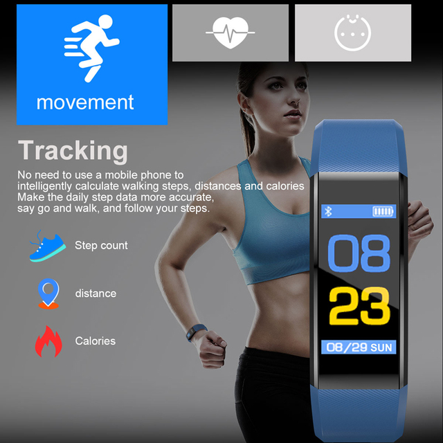 MAFAM New Smart Watch Men Women Heart Rate Monitor Blood Pressure Fitness Tracker Smartwatch Sport Watch for ios android +BOX 1