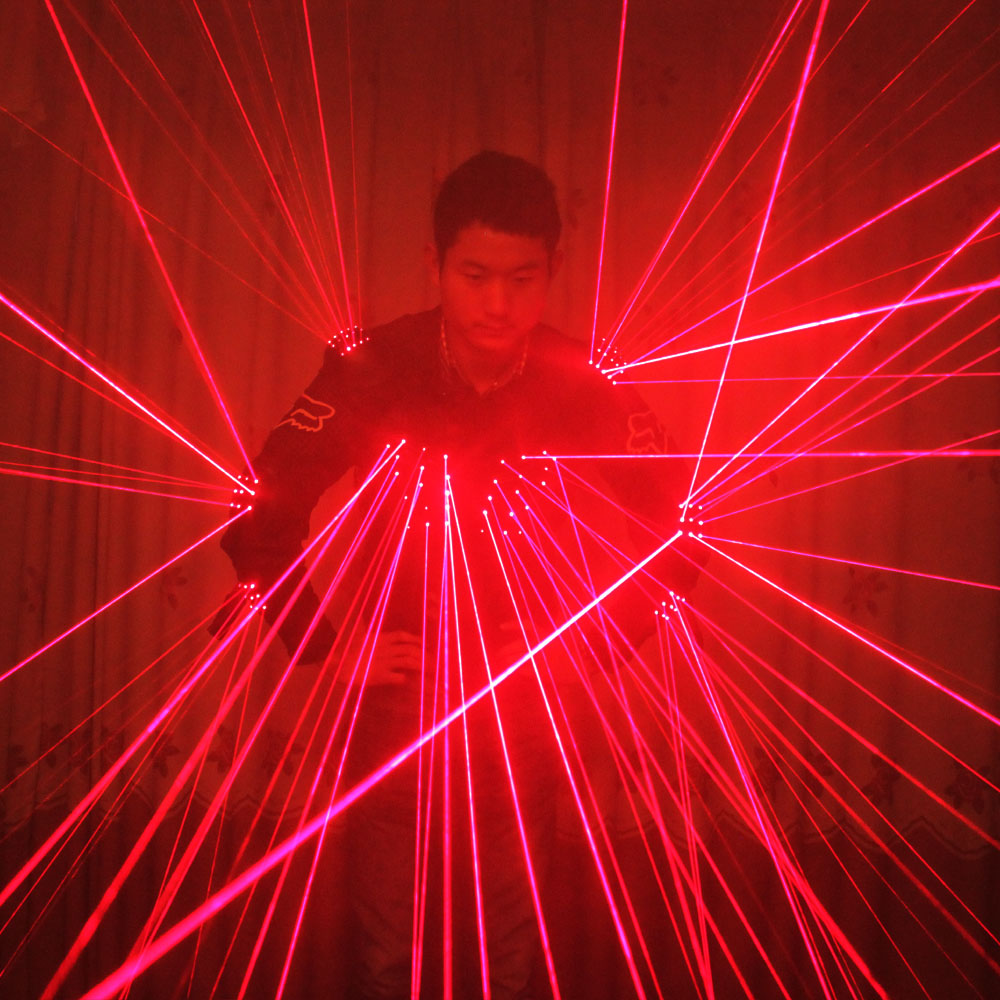 Free Shipping Red Laser Waistcoat LED Clothes Laser Suits 650nm Laser Man Costumes For Nightclub Performers