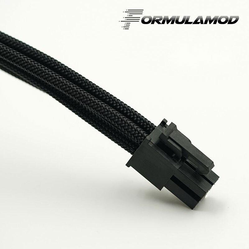 FormulaMod Fm-cpu 4P-A, cpu 4Pin удлинитель питания, материнская плата 18AWG 4Pin многоцветные соответствующие кабели расширения - Цвет лезвия: Black