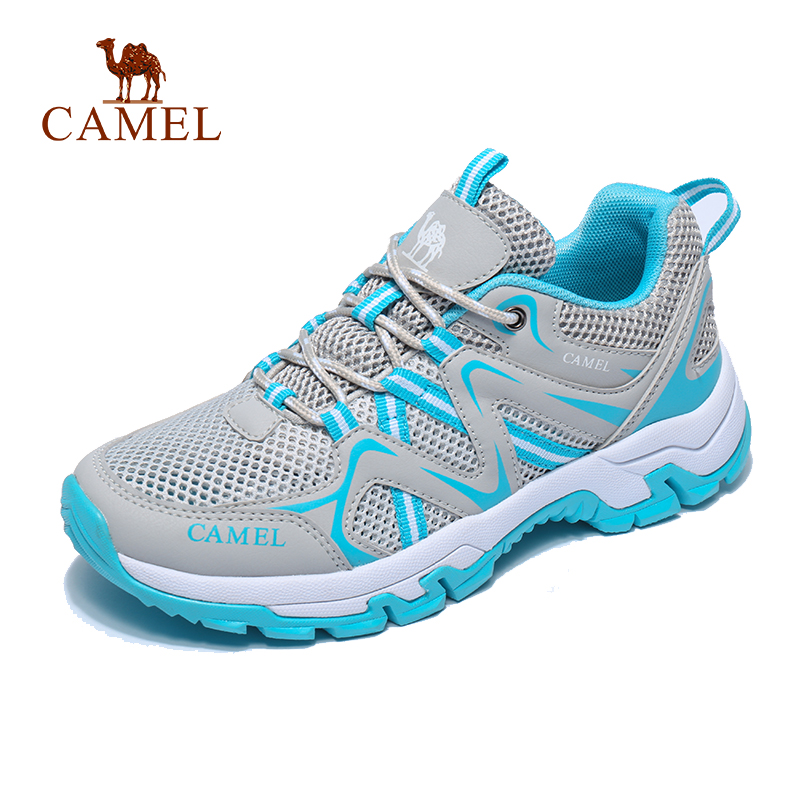 CAMEL Women Outdoor Hiking Shoes  Mesh Breathable Non-slip Anti-impact Travel Trekking Hiking Trail Shoes