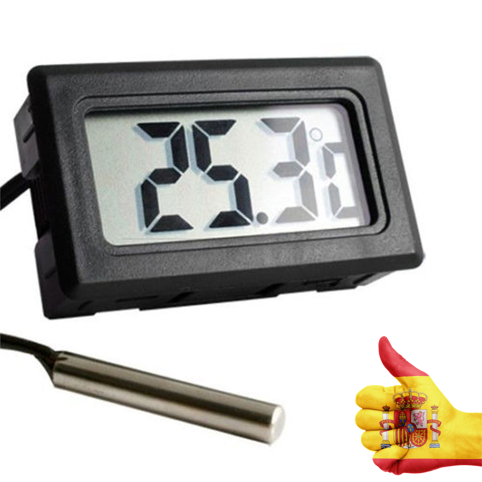 Thermometer Digital with External unit gauge for measuring temperature Cameras Fridges