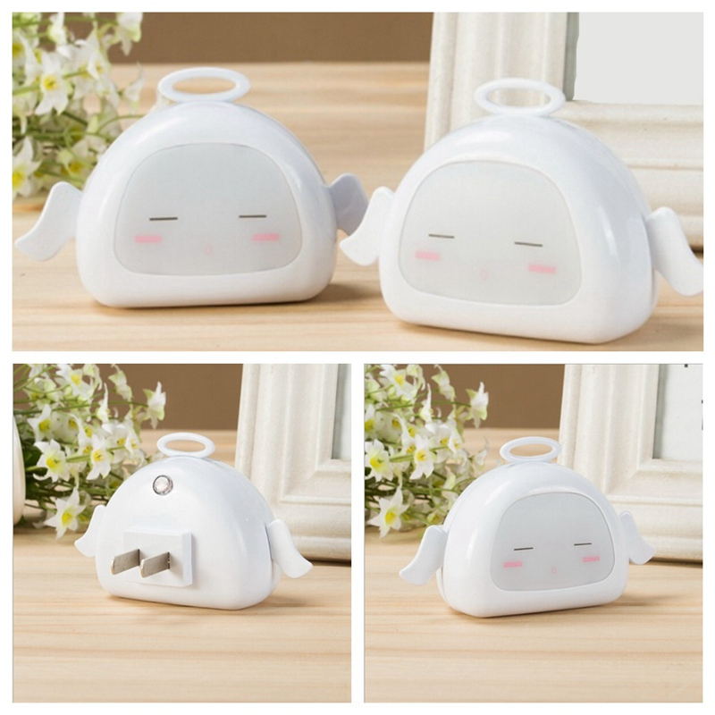 LED Intelligent Light Control Sensor Night Light Creative Plug-in Energy-saving Bedside Baby Room Children Room Beside Wall Lamp