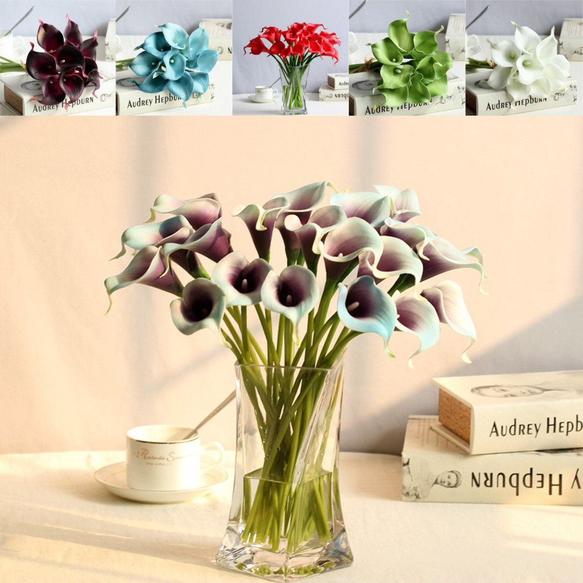 10pcs calla lily artificial flowers bunch bridal bridemaid bouquet 10pcs calla lily artificial flowers bunch bridal bridemaid bouquet floral bundle home party wedding decoration table ornaments in party diy decorations from izmirmasajfo