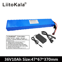 Liitokala 36V 10AH 500 w High Power and Capacity 42 v 18650 Lithium Battery Electric Motorcycle Bicycle Scooter with BMS