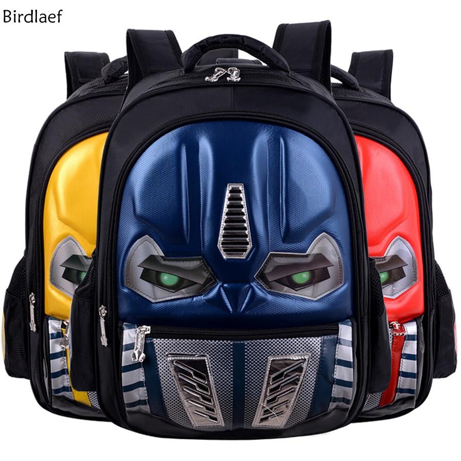 Birdlaef 2017 New Personality Eyes Will Light Waterproof 3D Stereoscopic Transformers Schoolbag Children Backpack Burden transformers маска bumblebee c1331