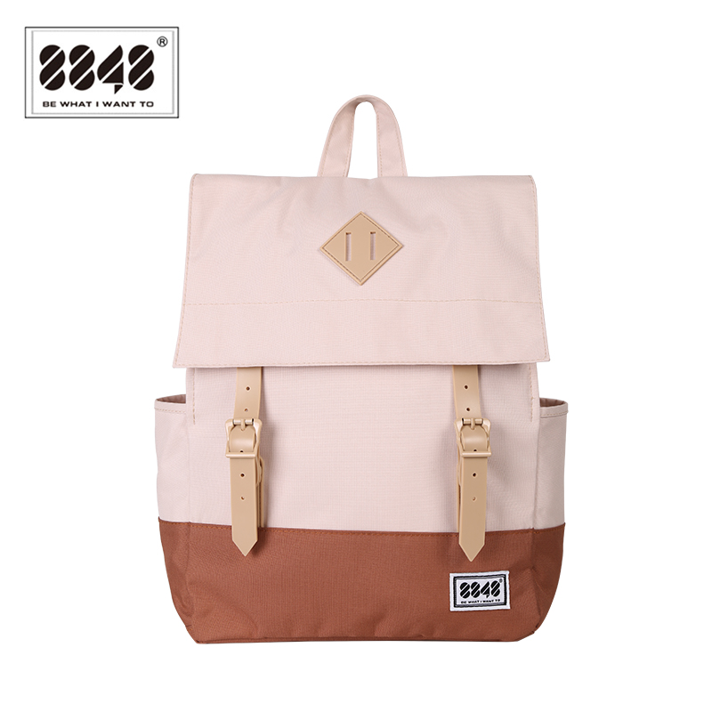 Image 2 - 8848 Casual Women's Backpack School Bag Female Backpack 15.6 Inch Laptop 14.2 L Waterproof Oxford Backpack Mochila 173 002 008-in Backpacks from Luggage & Bags