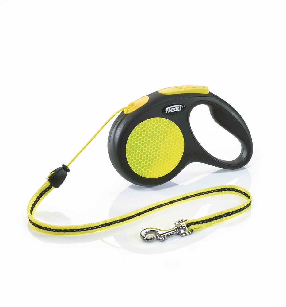 Lead tape measure Flexi for dogs Neon New Classic M (up to 20 kg), cord, 5 m. Dog Accessories wholesale wholesale steel tape wholesale tape 3 m 5 m 7 5 m 10 m tape measure and cheap