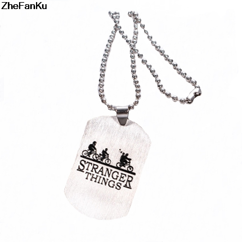 New Hot Stranger Things Hawkins Necklace Friends Bike Bus Pe