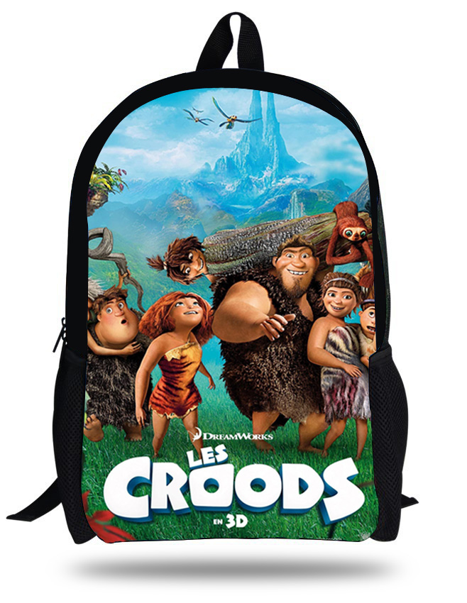 16-inch Mochila Croods Backpackk Children School Bags For Teenagers Cartoon Croods Bag Kids School Backpacks Bolsa Infantil