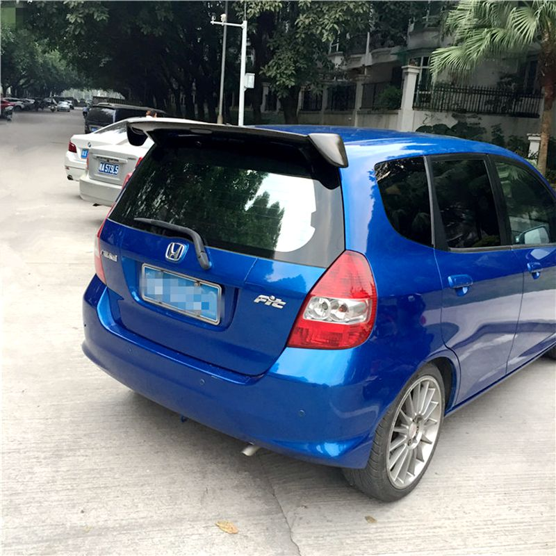 For Honda Jazz Fit Spoiler High Quality ABS Material Car Rear Wing Primer Rear Spoiler For Honda Fit Spoiler WX 2004-2007 цена