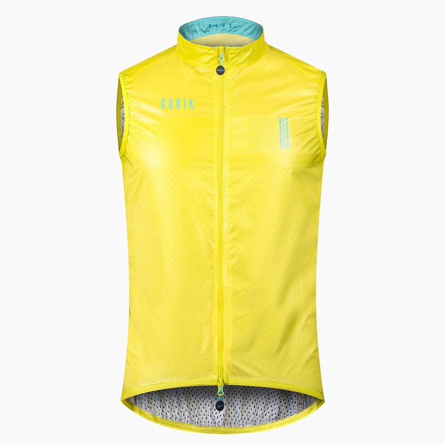 2019 yellow Cycling Vests Sleeveless Windproof Lightweight gilet MTB Road Bike Bicycle Jersey Top Cycle Clothing