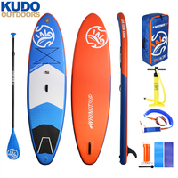 WHYNOT 341×84×15cm Stable Inflatable Stand Up Paddle Board With Free SUP Paddle Pump Leash Backpack Fin Stand UP Paddle Board
