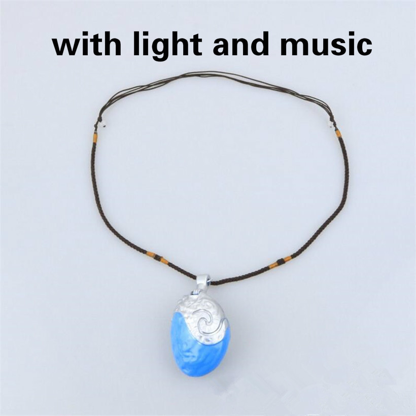 Novelty & Special Use Costume Props Moana Ocean Romance Rope Chain Necklaces Blue Stone Necklaces Princess Necklace Key Ring Movie Figures Action Toys Gift