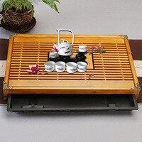 Tea Tray Drainage Water Storage Wood Tea Set Room Board Table Chinese Tea Cup Ceremony Tools