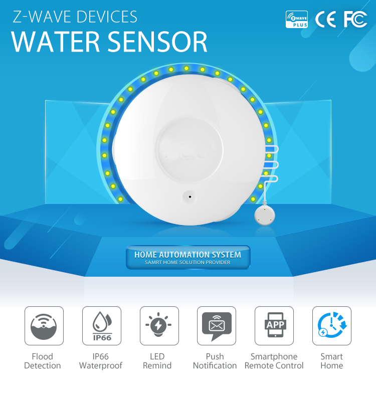 YobangSecurity Z-Wave APP Control Flood Water Leak Alarm Sensor Water Leakage Sensor Detector Alarm For Home Automation System цена