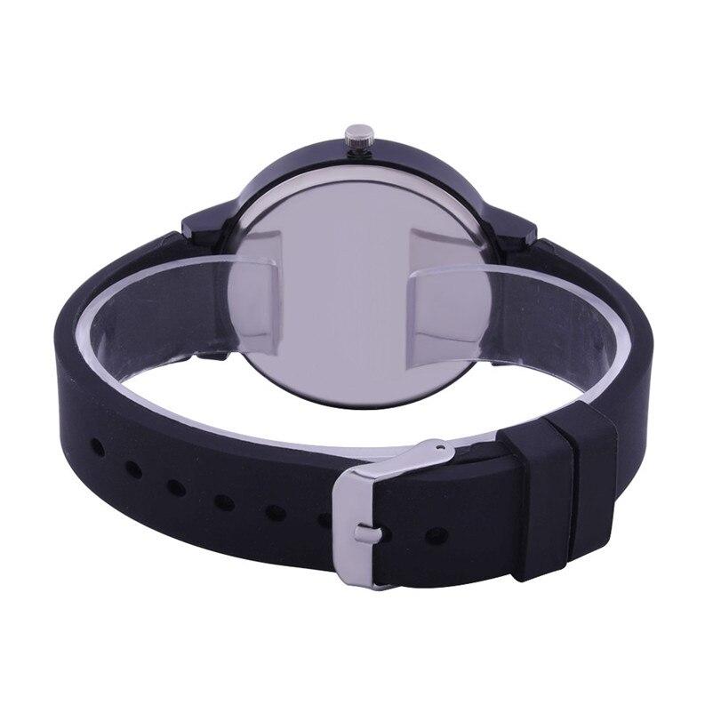 Fashion women watches bracelet watch ladies Silicone Band Analog Quartz Round Wrist Watch Watches clock Relogio Masculino S20 (1)