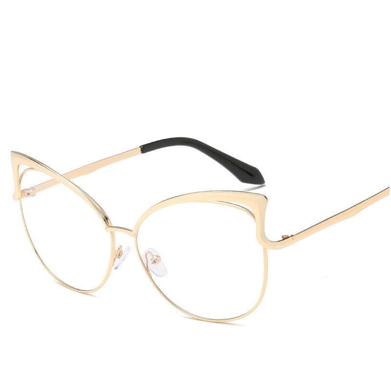 795a83eb1ce Fashion Women Cat Eye Glasses Frames Cat s Eye Clear Eyeglasses Ladies  Spectacles Frame Retro Women s Glasses Brand Designer