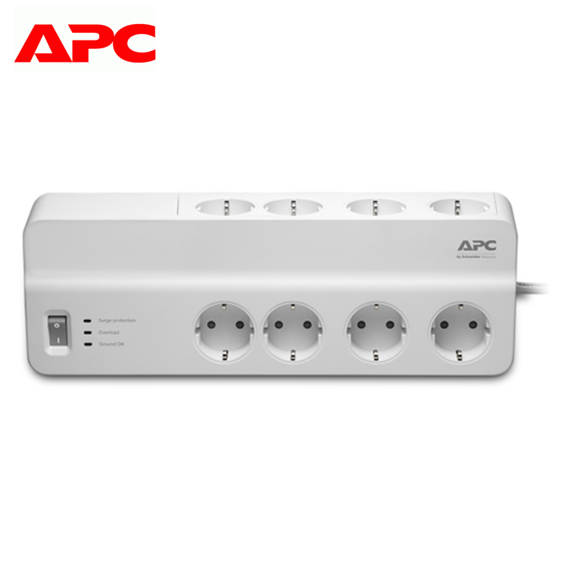 Surge protector APC Essential SurgeArrest PM8-RS surge protector apc essential surgearrest pm6 rs