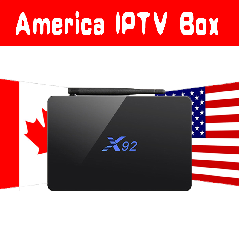 X92 Android 7.1 TV BOX 2G16G/3G32G USA Canada IPTV Box with 7000 Live 8000 VOD USA Canada English Latin America IPTV Set Top Box conditional cash transfers in latin america