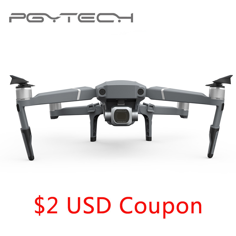 PGYTECH Extended Landing Gear Leg Support Protector Extension Replacement Fit For Mavic 2 Pro Zoom drone accessories pgytech dji mavic 2 landing gear riser extended landing gear leg for dji mavic 2 pro zoom fly more combo drone accessories parts