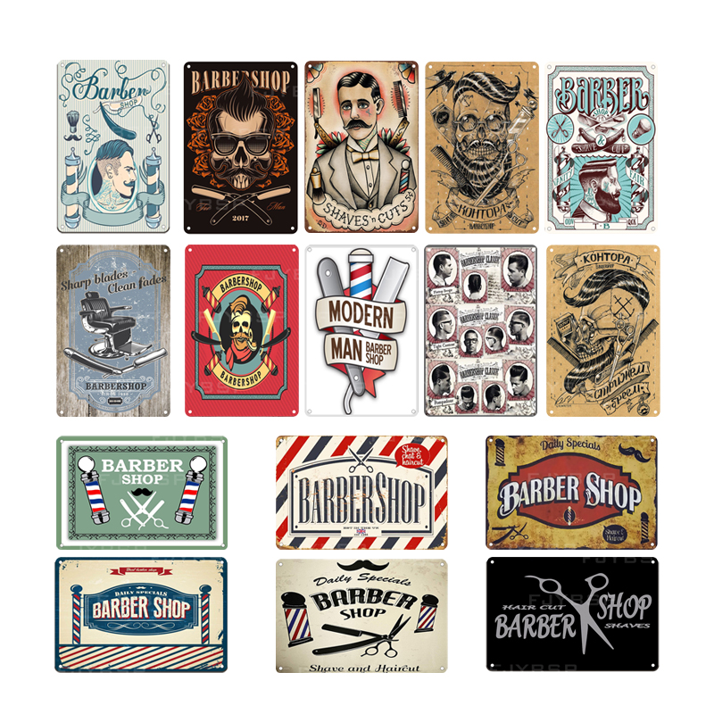 Barber Shop Vintage Tin Sign bedroom Metal plate decoration plate Poster Coffee Bar wall home decoration 20 30cm in Painting Calligraphy from Home Garden