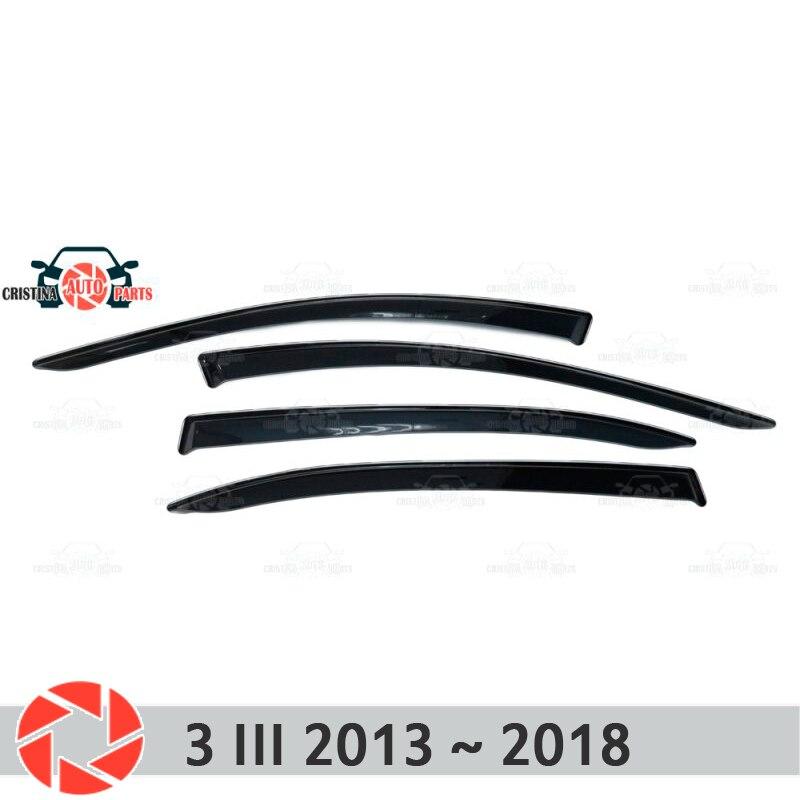 купить Window deflector for Mazda 3 2013~2019 rain deflector dirt protection car styling decoration accessories molding по цене 1550 рублей