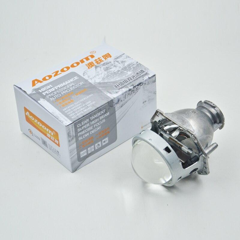 Aozoom vente chaude 1 paire projecteur de voiture phare 3 pouces bi-xénon projecteur lentille Hela 5