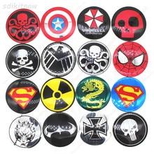 цена на 4pcs Funny Skull Hero Car Wheel Center Hub Caps Cover Rim Sticker Emblem Badge Styling For BMW AUDI VW FORD HONDA KIA JEEP OPEL
