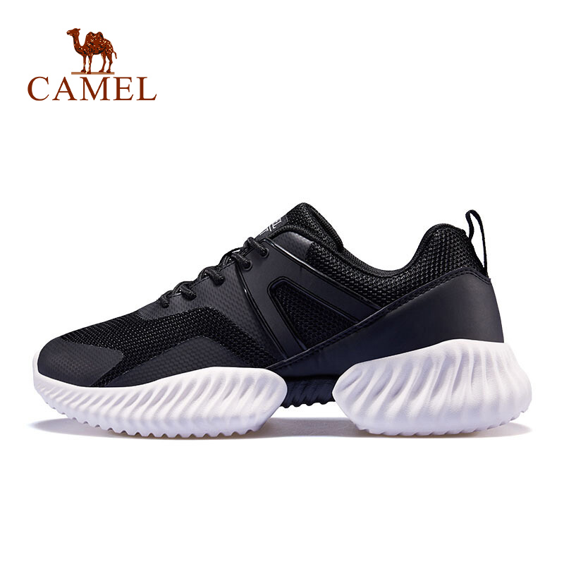 CAMEL Women Running Shoes Fashion Korean Version Thick Bottom Lightweight Breathable Sport Shoes For Outdood
